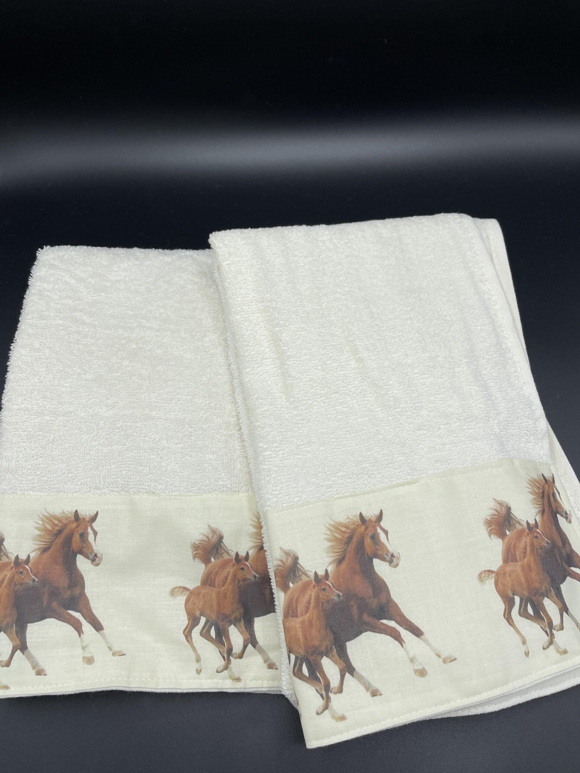 Asciugamani cavalli