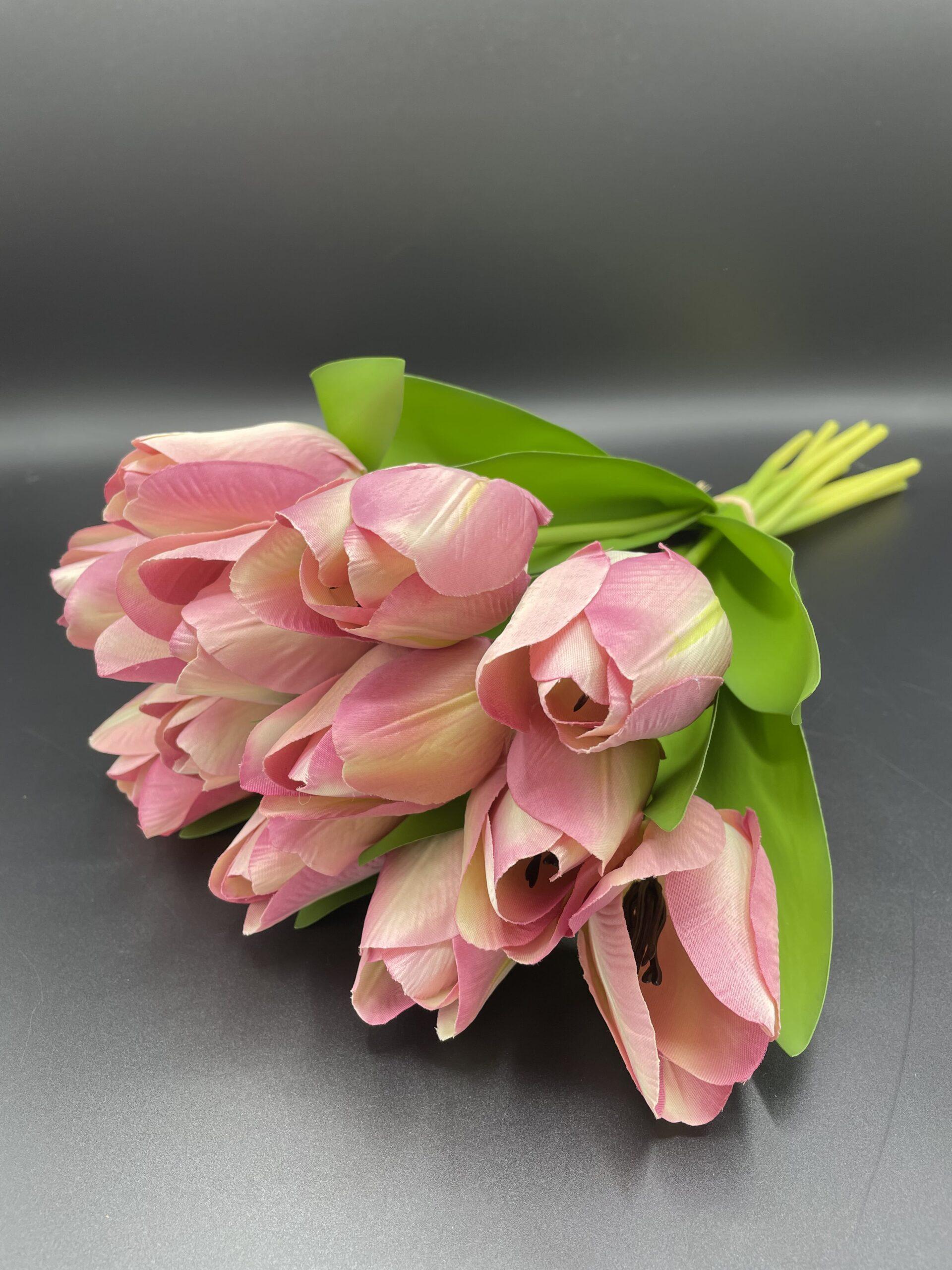 Mazzo 12 tulipani rosa