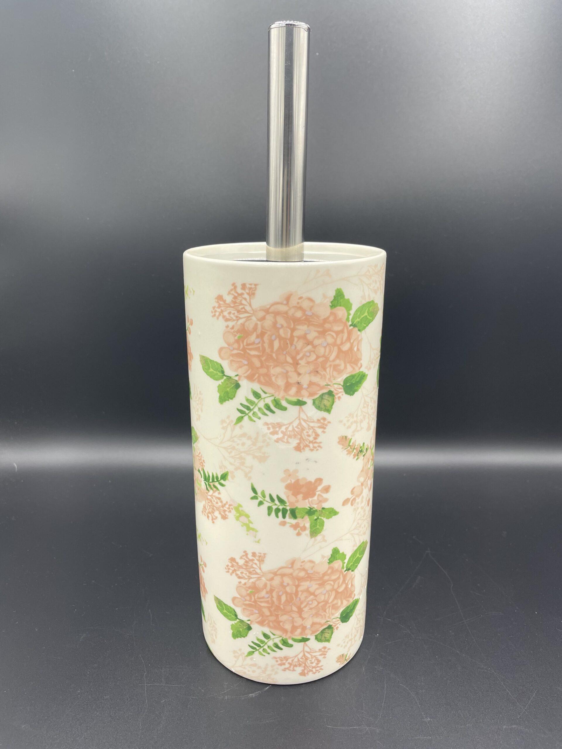 Portascopino fiori rosa