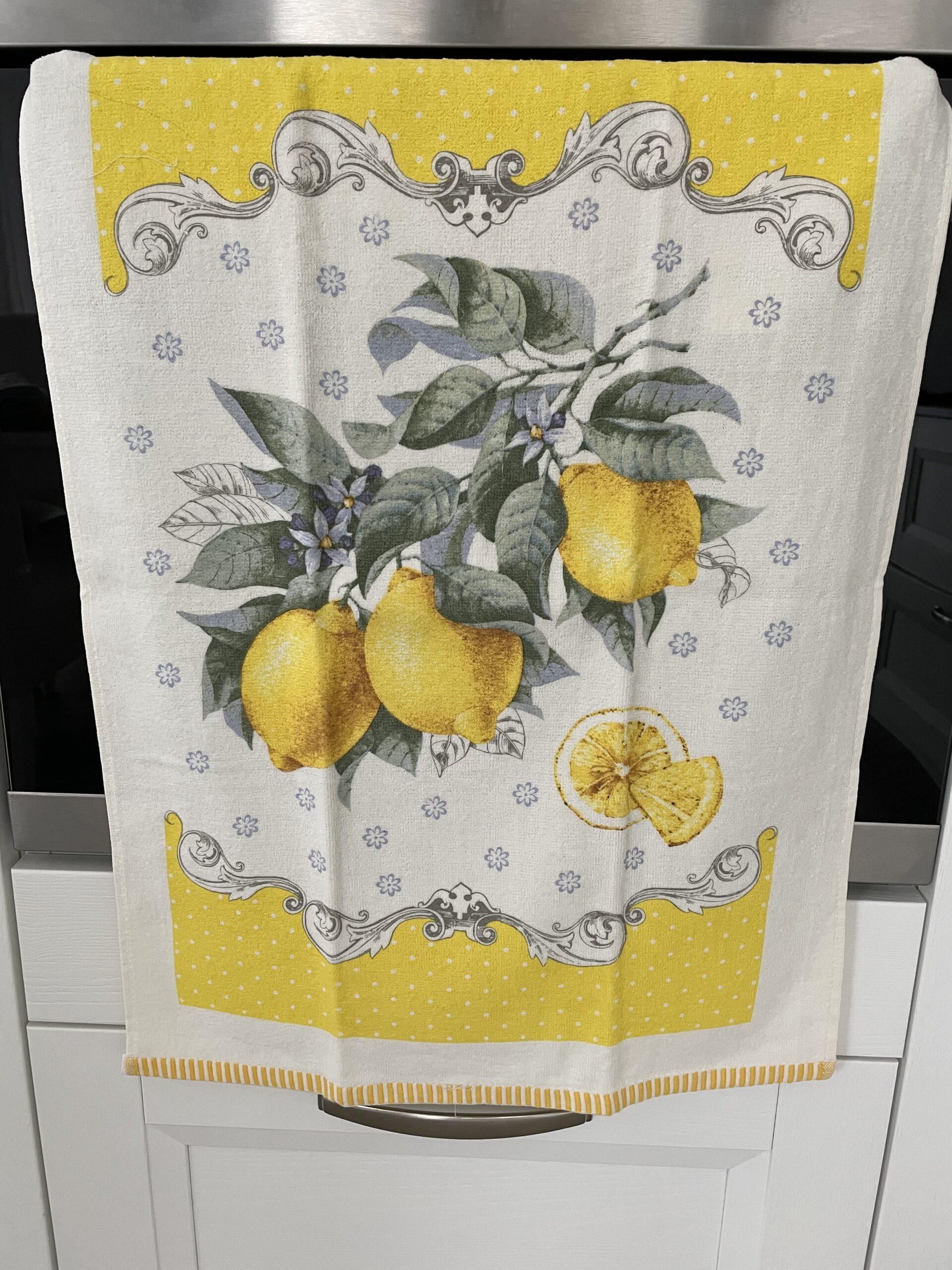 Strofinaccio giallo limoni
