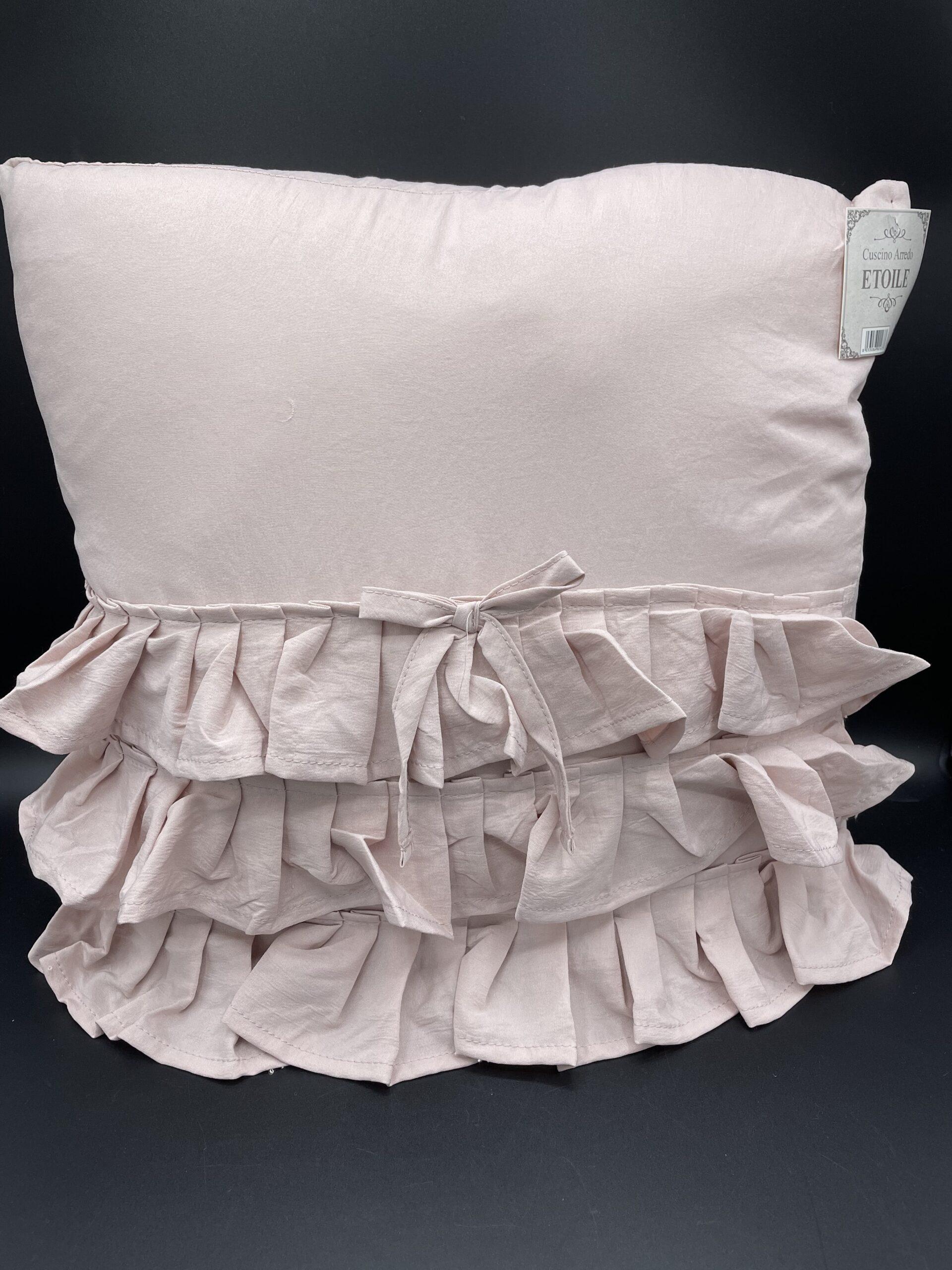 Cuscino etoile rosa
