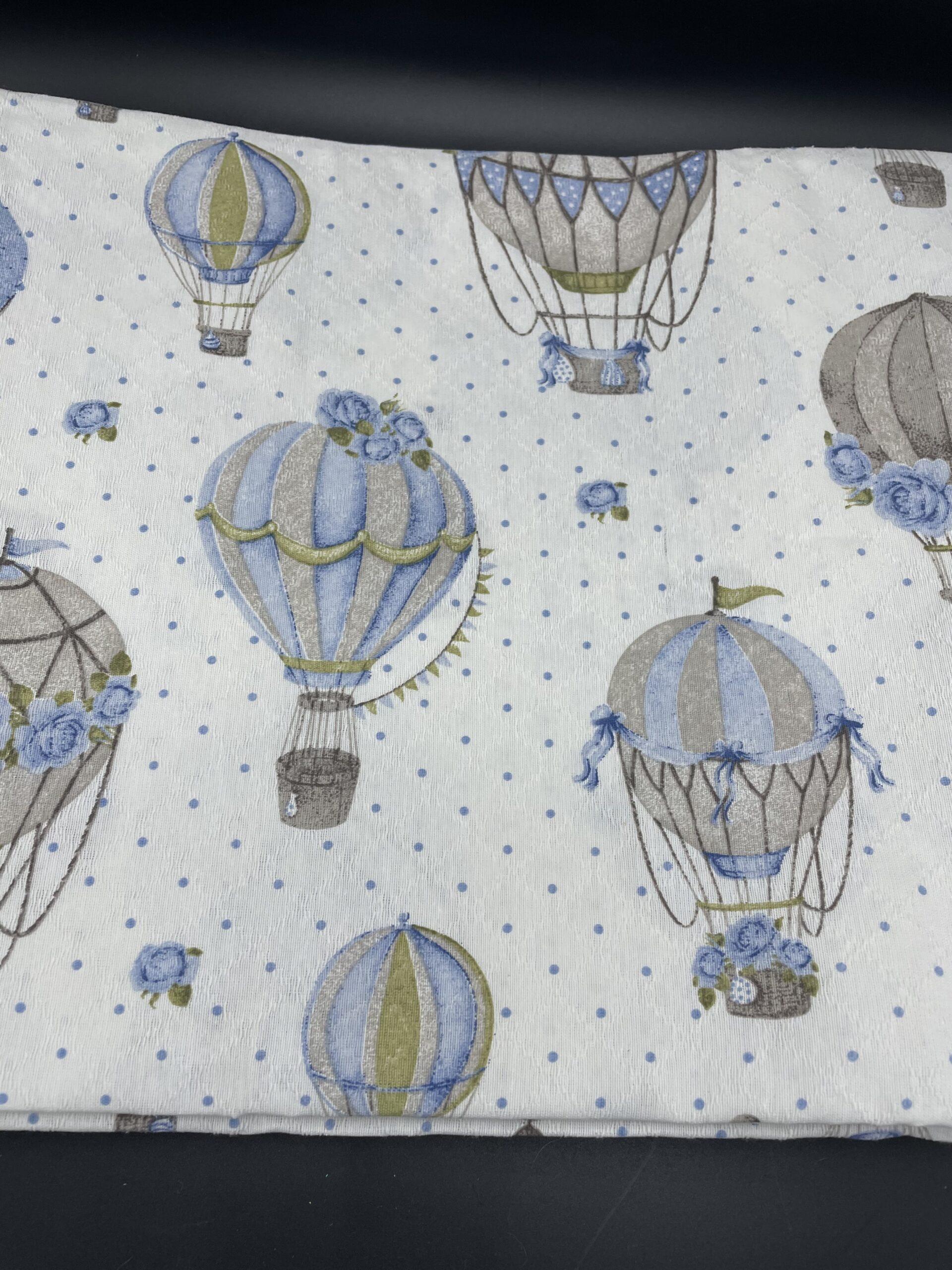 Copriletto 2 piazze mongolfiere azzurre